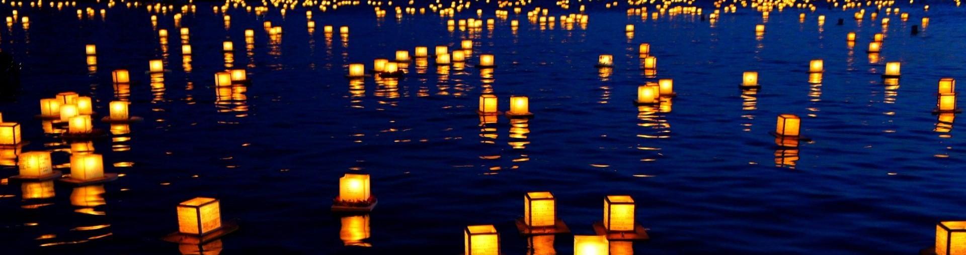 Úszó vízi lámpások