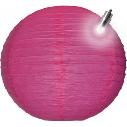 Papír lampion LED 30cm lila
