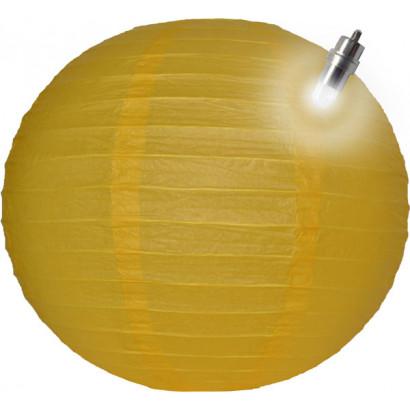 Papír lampion LED 30cm sárga