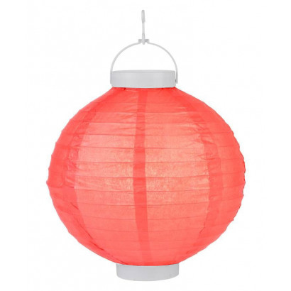 Világító lampionok LED 20cm – piros