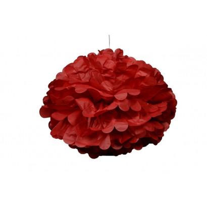 Selyempapír pompom 20cm, piros