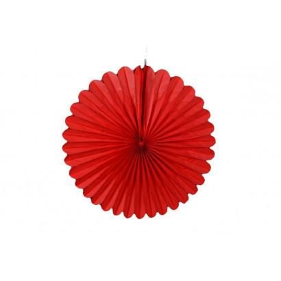 Papír rozetta 20cm piros