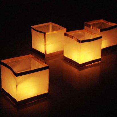 10 db úszó vízi lámpás - kocka alakú