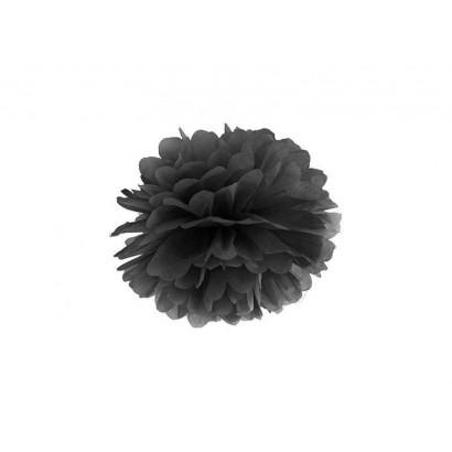 Selyempapír pompom 35cm, fekete