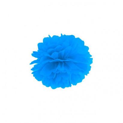 Selyempapír pompom 35cm, kék