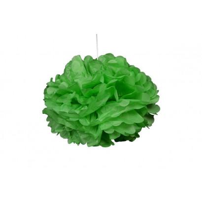 Selyempapír pompom 20cm, zöld