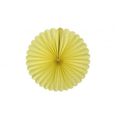 Papír rozetta 20cm sárga