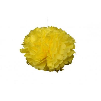 Selyempapír pompom 20cm, sárga