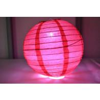Papír lampion LED 40cm piros