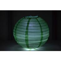 Papír lampion LED 20cm zöld