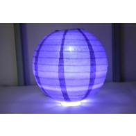 Papír lampion LED 40cm ibolya