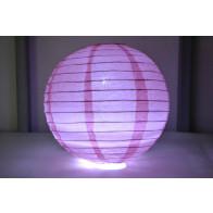 Papír lampion LED 30cm rózsaszín