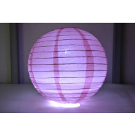 Papír lampion LED 40cm rózsaszín