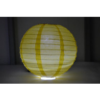 Papír lampion LED 50cm sárga