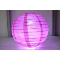 Papír lampion LED 20cm fukszia