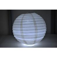 Papír lampion LED 50cm bézs