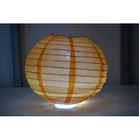 Papír lampion LED 30cm narancs