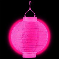 Világító lampionok LED 30cm fukszia