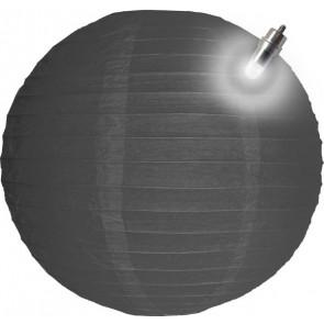 Papír lampion LED 30cm szürke