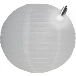Papír lampion LED 30cm fehér