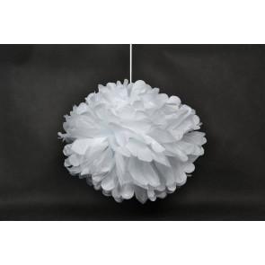 Selyempapír pompom 40cm, fehér
