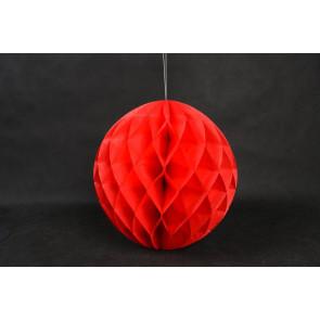 Méhsejt Gömb Honeycomb 20cm piros
