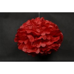 Selyempapír pompom 40cm, piros