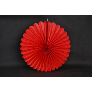 Papír rozetta 40cm piros