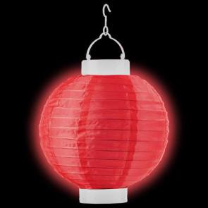 Világító lampionok LED 20cm piros