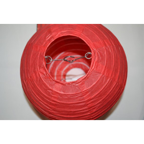 Papír lampion 50cm piros