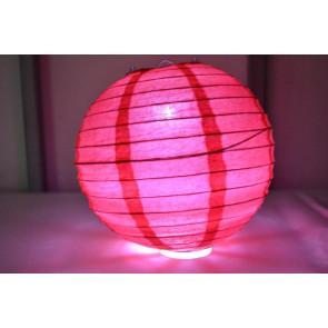 Papír lampion LED 50cm piros