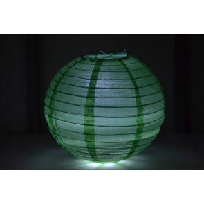 Papír lampion LED 40cm zöld
