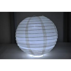 Papír lampion LED 40cm bézs