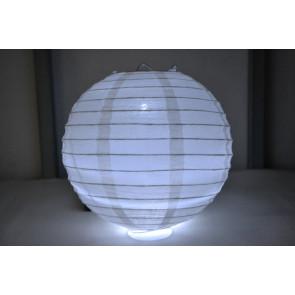 Papír lampion LED 50cm fehér