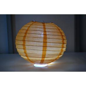Papír lampion LED 40cm narancs