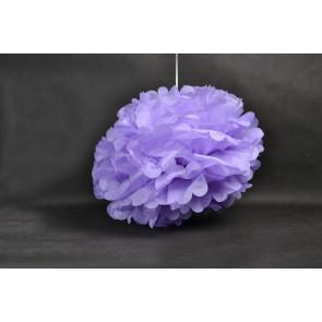 Selyempapír pompom 40cm, lila