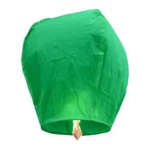 Zöld repülő lampion STANDARD jókívánság lámpás, Kívánság lampion