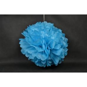 Selyempapír pompom 40cm, kék