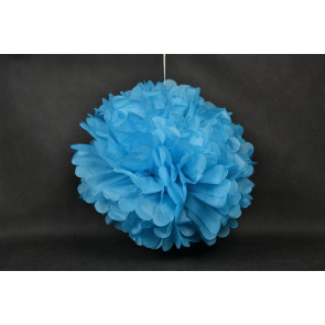 Selyempapír pompom 50cm, kék