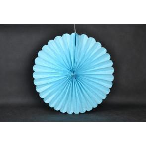Papír rozetta 40cm kék