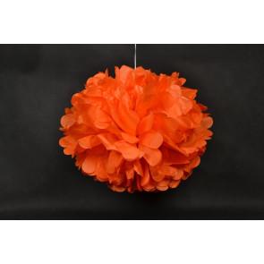 Selyempapír pompom 40cm, narancs