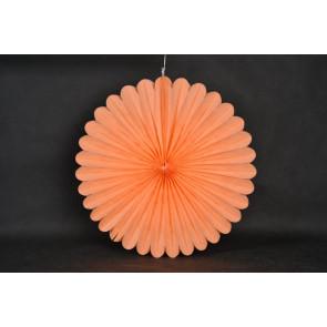 Papír rozetta 20cm narancs