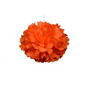 Selyempapír pompom 20cm, világos narancssárga