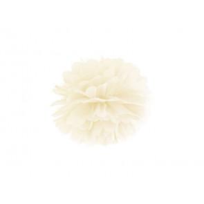 Selyempapír pompom 35cm, krém