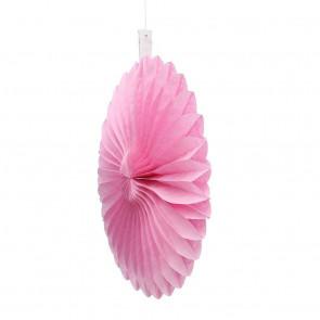 Papír rozetta 20cm rózsaszín