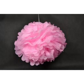 Selyempapír pompom 40cm, rózsaszín