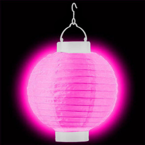 Világító lampionok LED 20cm rózsaszín + AAA elemek ingyenes