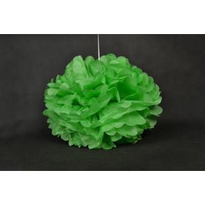 Selyempapír pompom 40cm, zöld